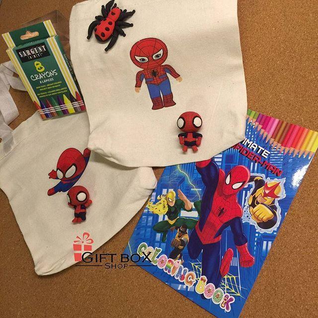 Gift Box Shop مستودع الهدايا On Instagram وصل حديثا هدايا سبايدرمان لتوزيعات الاولاد عبارة عن محفظة من القماش ٢١سم ١٨ Gifts Gift Box Christmas Stockings