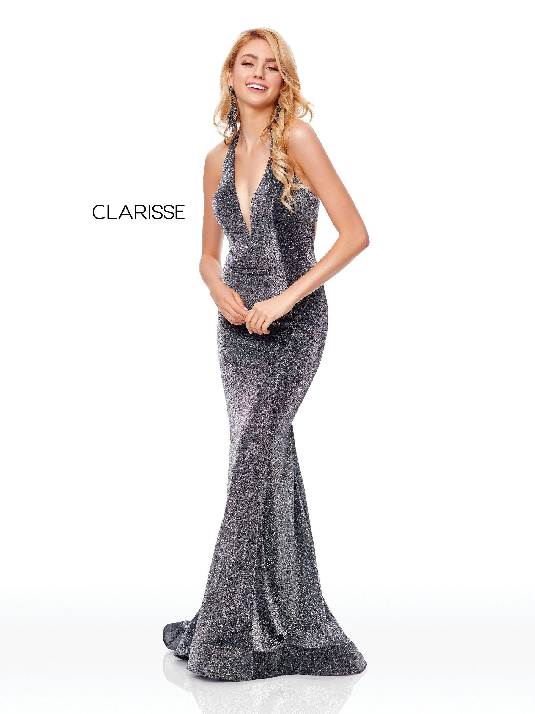 3711 Gunmetal Shimmer Jersey Dress Clarisse Prom 2019 Dresses