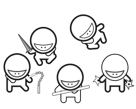 Cartoon Ninja Coloring Pages Japanese culture for kids Japan