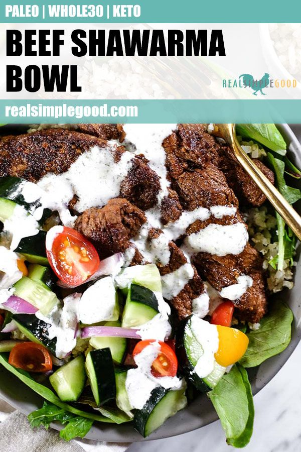 Beef Shawarma Bowl (Paleo, Whole30 + Keto) images