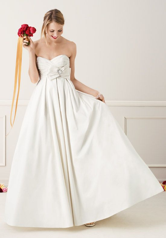 bd8524bcbee9 David Bridal Strapless Shantung Taffeta Sweetheart Ball Gown Style T3039