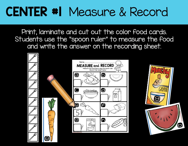 Measurement And Data Kindergarten Math Unit