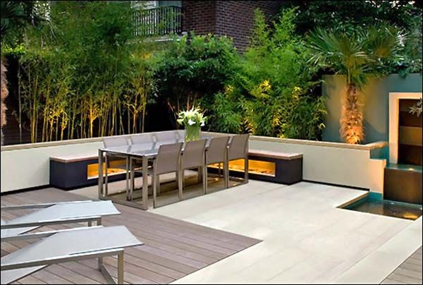 contemporary small garden design creative yard landscaping ideas - Patio Ideas For Small Gardens