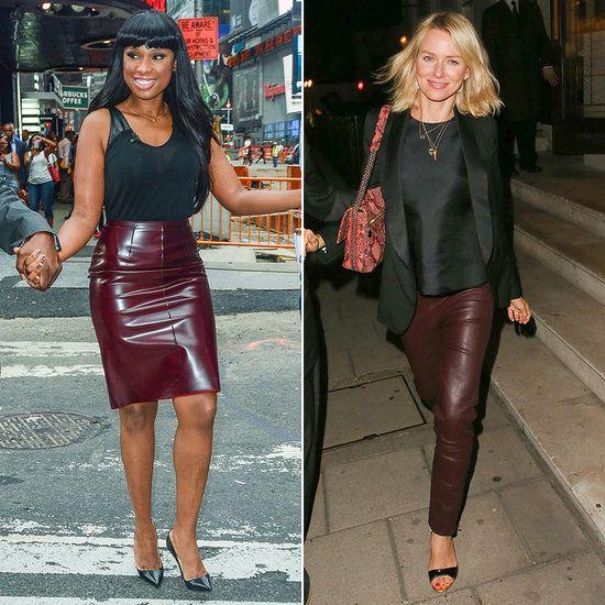 Dark Red Leather Skirt | Jill Dress