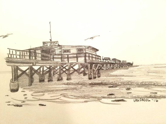 Redington Beach Fishing Pier Florida Coastal By Mysalvagedpast