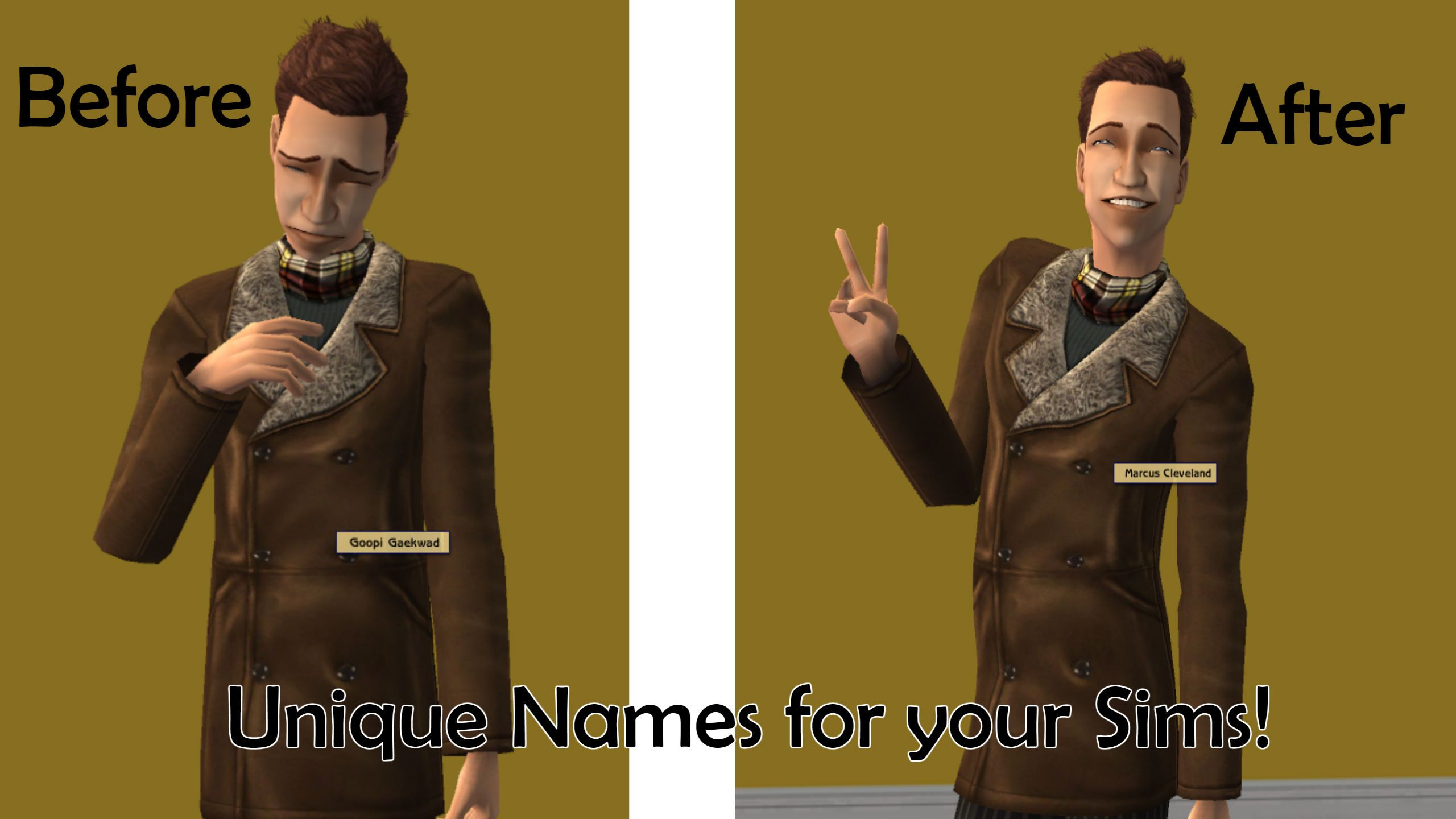 Mod The Sims - Unique Names For Townies! | Sims 2 CC