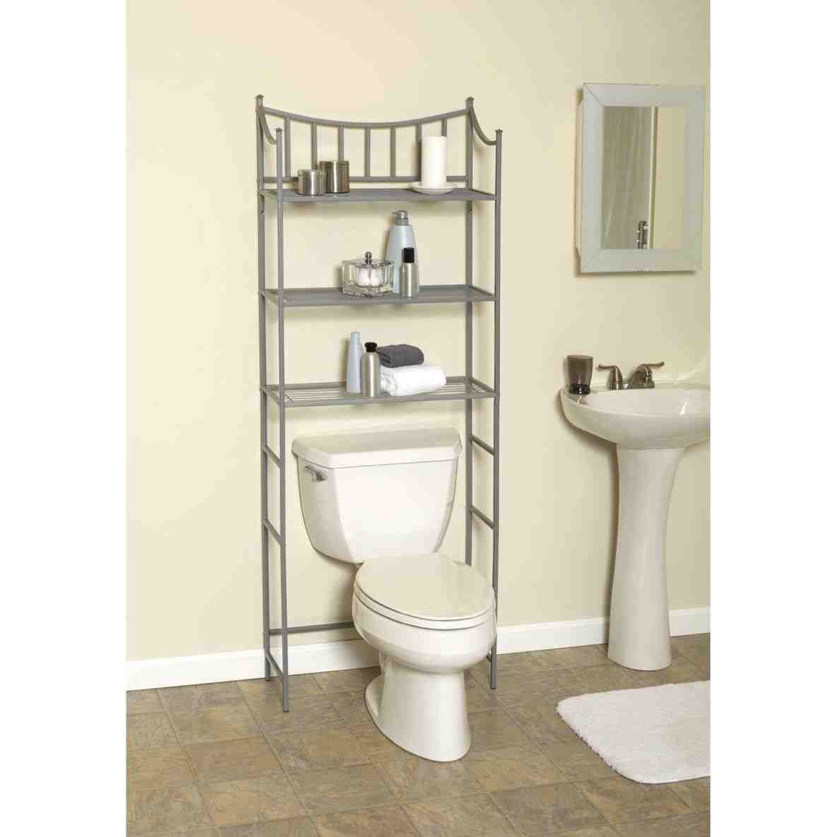 Over Toilet Shelf Ikea With Images Bathroom Space Saver
