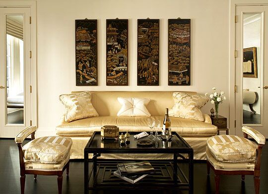 Living Room Quartet ivory and gold living room - very elegant. | oriental oppulence
