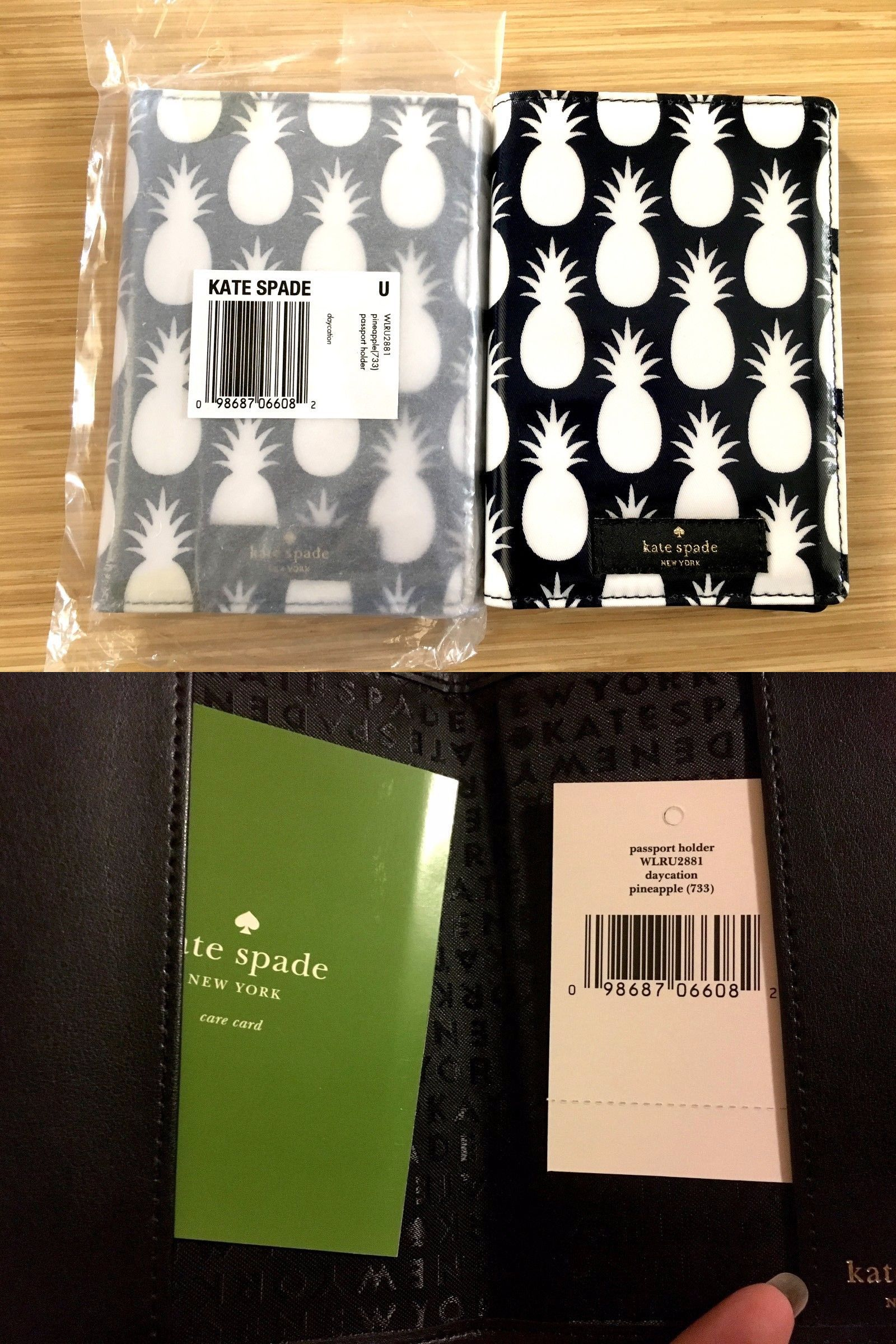 36b3860e2e1a Passport Holders 169288: New Kate Spade Daycation Pineapple Imogene Passport  Holder Wallet Wlru2881 -> BUY IT NOW ONLY: $42 on eBay!