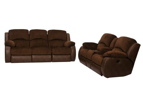 Marvelous Parker 2 Piece Sofa And Loveseat In Brown Rent To Own Ocoug Best Dining Table And Chair Ideas Images Ocougorg