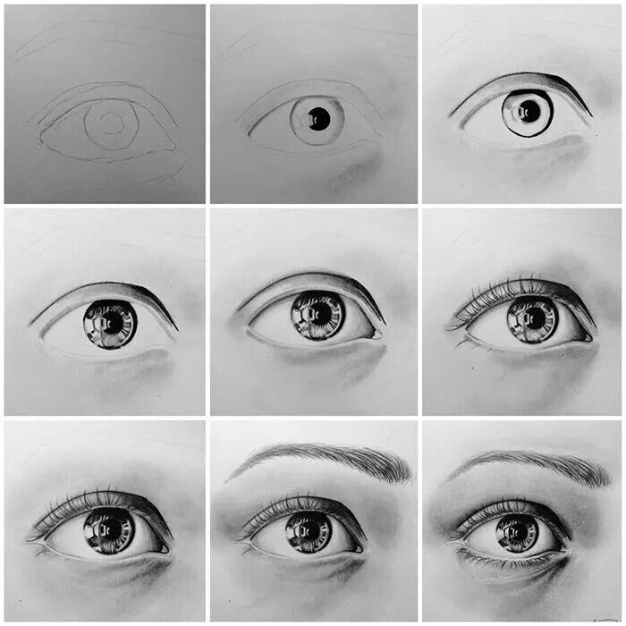 Step By Step Eye Pencil W Graphite Powder Eye Drawing Tutorials Eye Drawing Eye Art