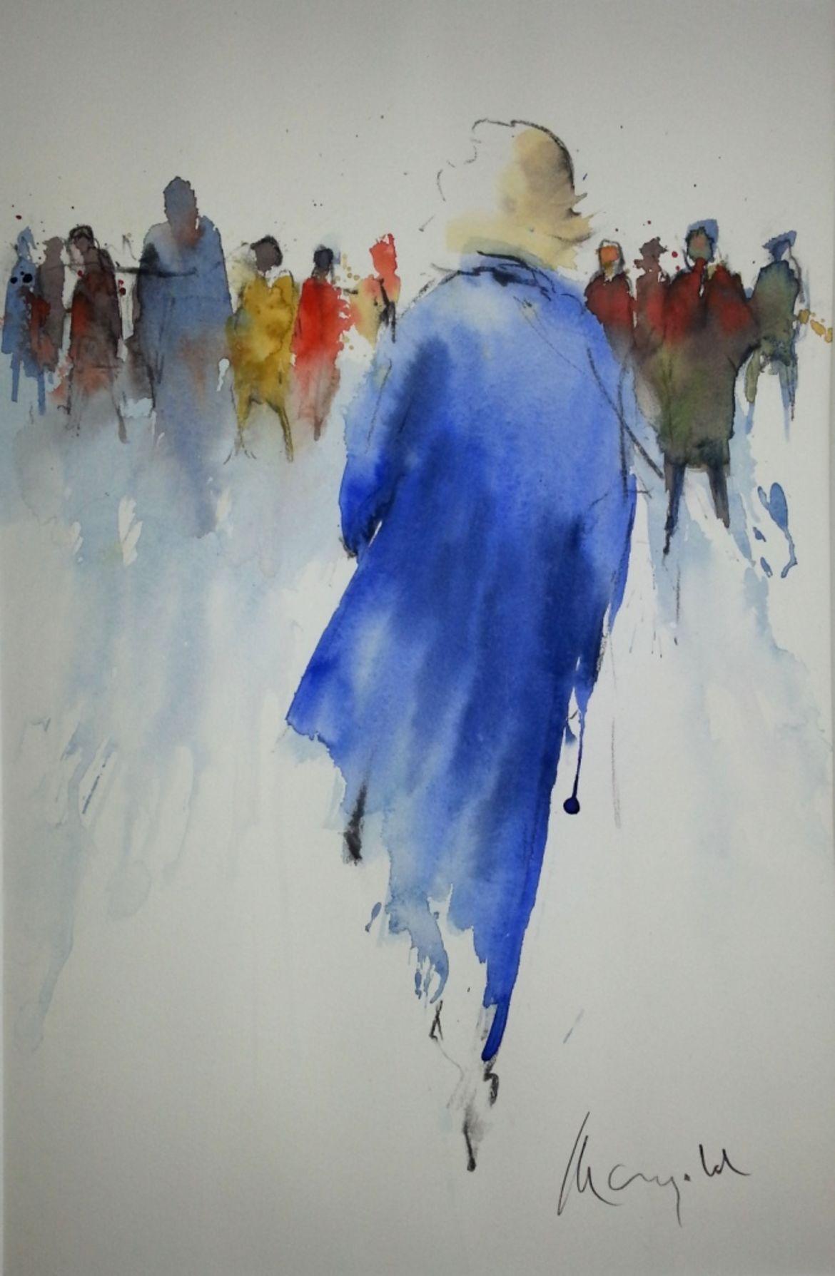 Gerhard Mangold : Menschen #wasserfarbenkunst