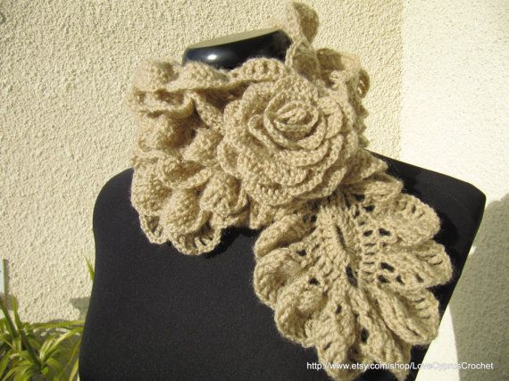 PDF File Crochet Scarf Pattern - Diagram Gorgeous Lady Ruffle Scarf ...