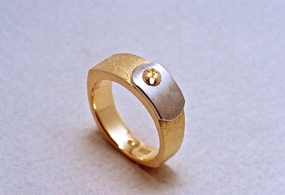 K18 Pt 900 Ring