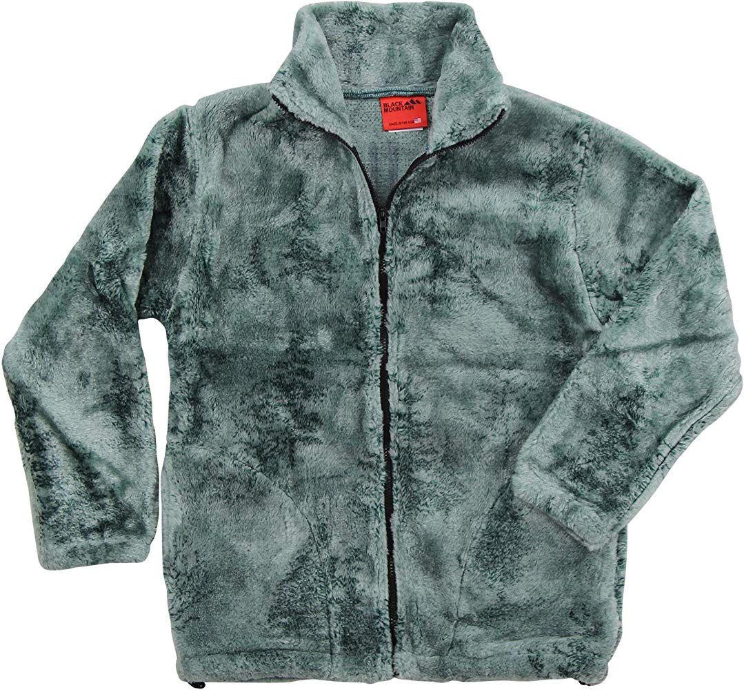 Black Mountain Apparel Women S Wildlife Print Heavy Fleece Coats Misty Pine Trees Small Mountain Outfit Fleece Coat Coat [ 1000 x 1079 Pixel ]
