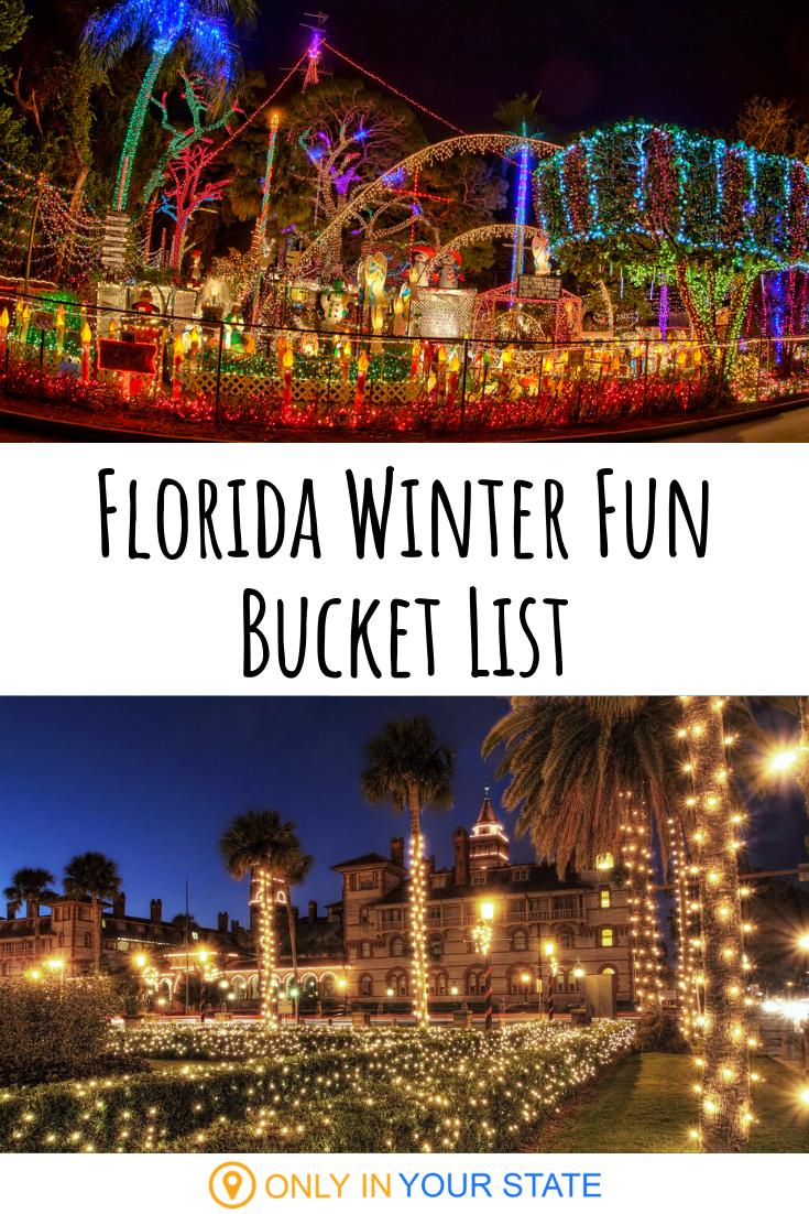 13 Perfect Things To Add To Your Florida Winter Bucket List Florida Christmas Florida Florida Travel
