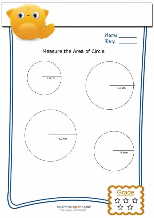 Measuring Area Worksheet Circles 1 Kidspressmagazine Com Area Worksheets Kids Math Worksheets Math Worksheet