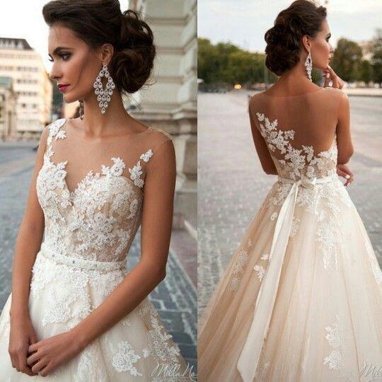 Vintage Blush Wedding Dresses