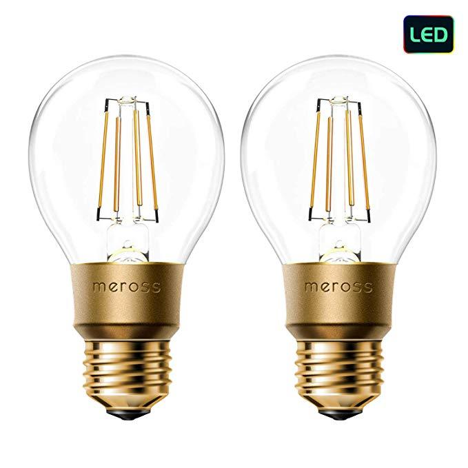 Meross Smart Wi Fi Led Bulb Vintage Edison Style Dimmable 60w