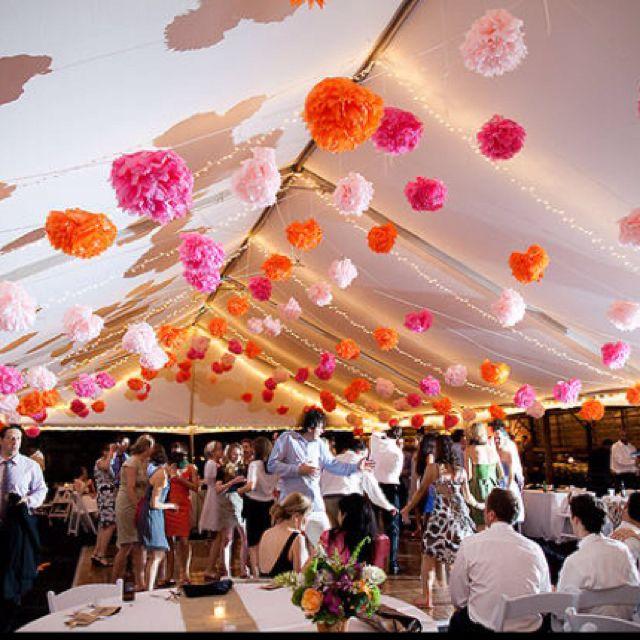 Pom Fun Wedding Tent Decorations Wedding Decorations Centerpieces Wedding