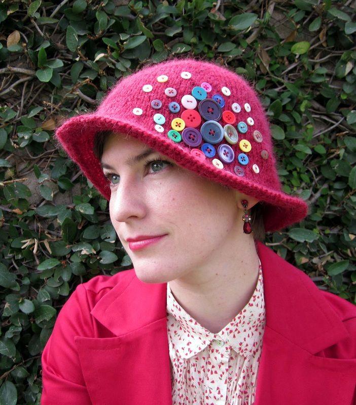 Button Box Cloche Hat Knitting Pattern By Cassie Castillo Felt