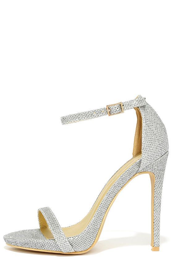 dfc82895d8f Night Away Silver Ankle Strap Heels | If the shoe fits! | Silver ...