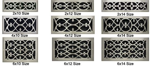 Brushed Nickel Floor Register Decorative Air Vent
