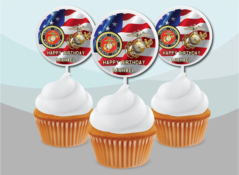 United States Marine Corps Birthday Promotion Party Cake
