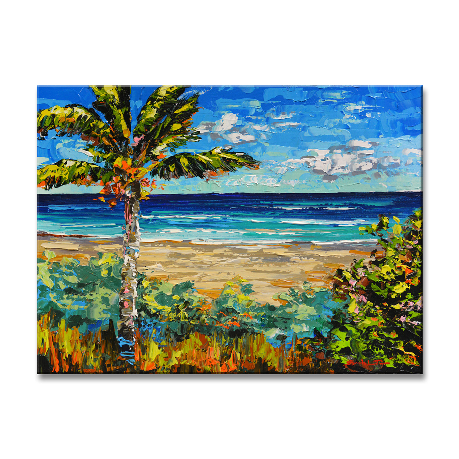 Sugar beach large canvas wall art in products pinterest