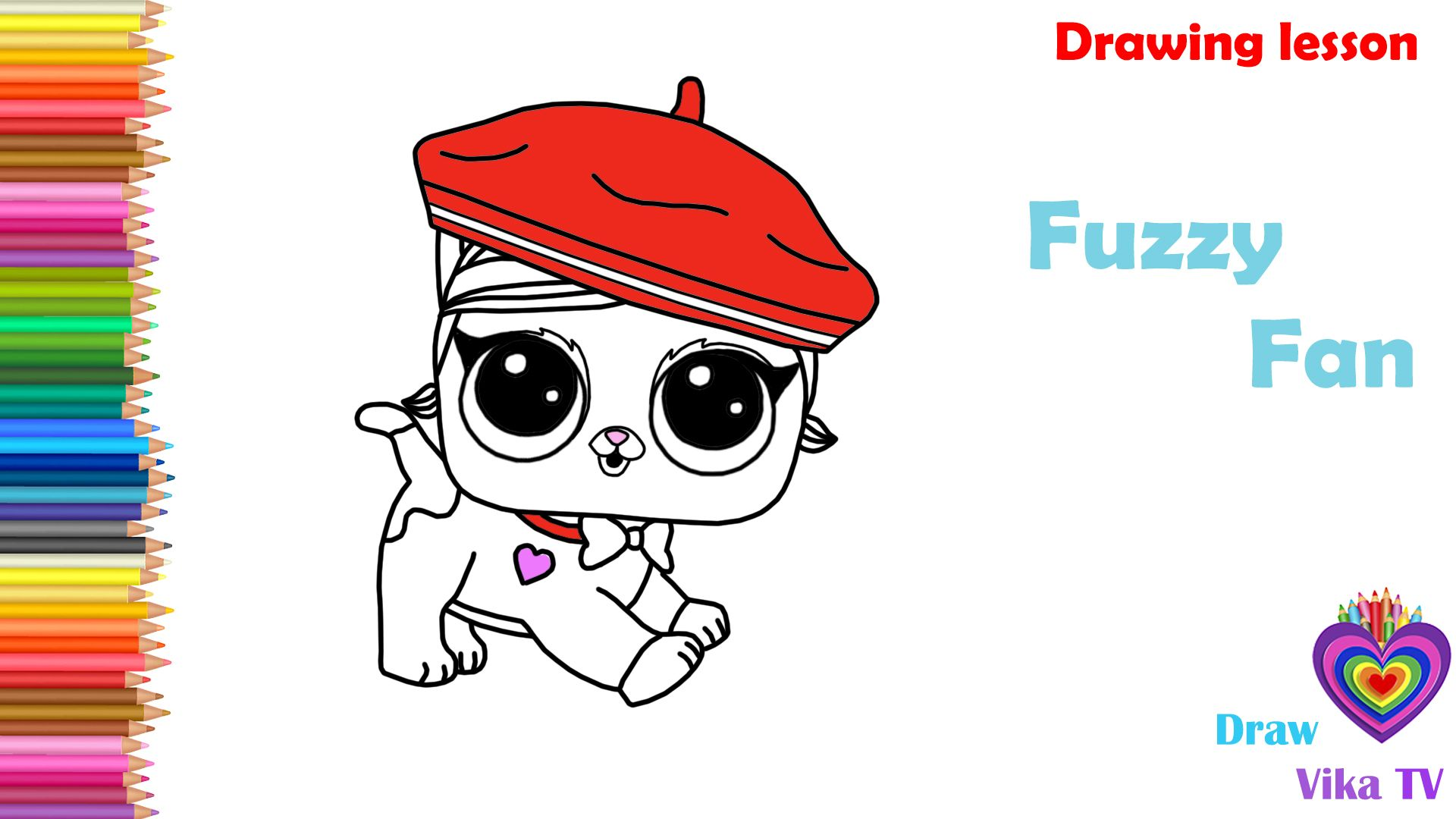 How To Draw Fuzzy Fan LOL Surprise PetsDrawing and