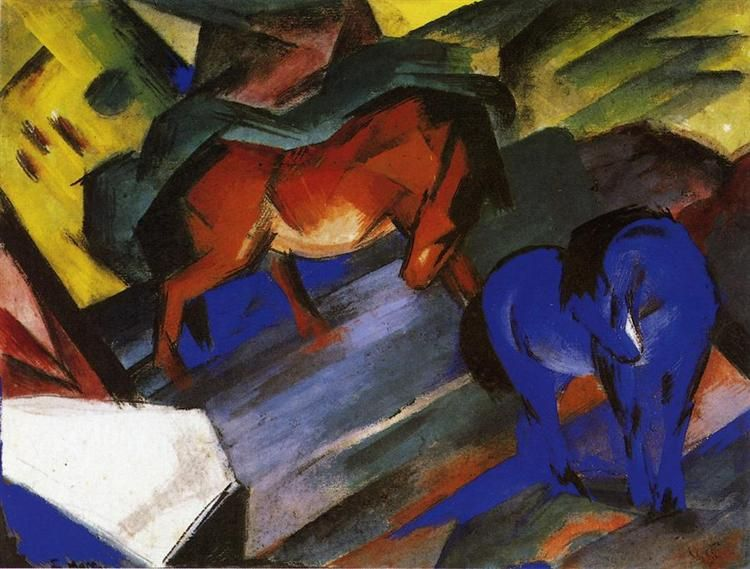 Red and Blue Horse, 1912 - Franz Marc