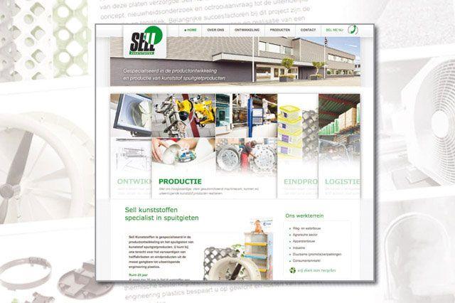 Sell Plastics. Website ontwerp