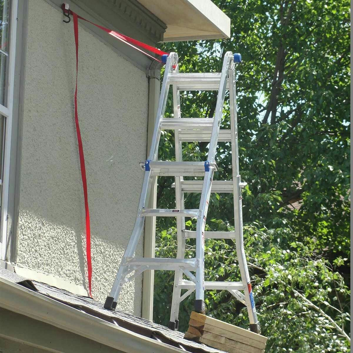 Ladder safety on roof Home inspection, Home inspector