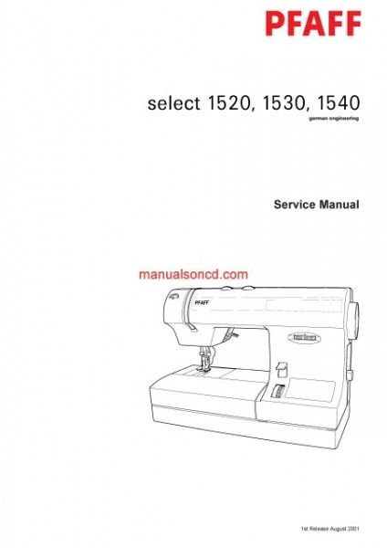Pfaff 404040 Sewing Machine Service Manual Sewing Machine Adorable Pfaff 1540 Sewing Machine