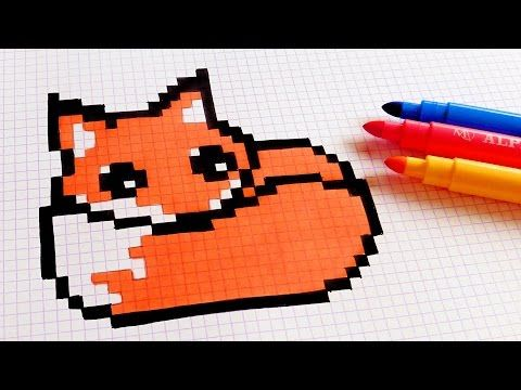 Handmade Pixel Art How To Draw Kawaii Fox Pixelart