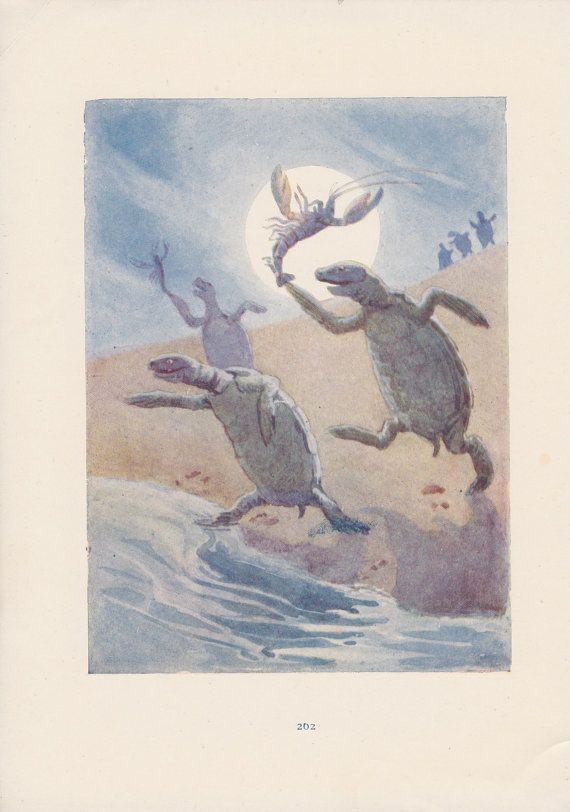 """""""Then you know,"""" the Mock Turtle went on, """"you throw the-"""" """"The lobsters!"""" shouted the Gryphon, with a bound into the air. """"-as far out to sea as you can-"""""""