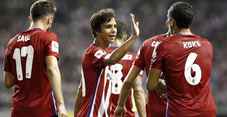Oliver Torres, en uno de los partidos de la gira asiática del Atlético.