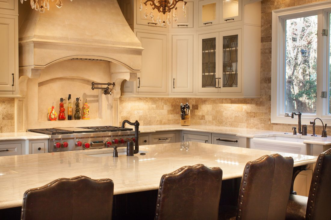 Taj Mahal Granite Kitchen Wellborn Cabinets Taj Mahal Quartzite Tuscan Hood And Rohl