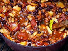 Mile High Baked Beans - RockyMountainCooking