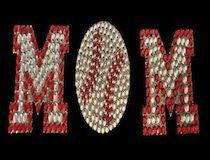 Basebeball Mom Rhinestone & Glitter Window Sticker Decal