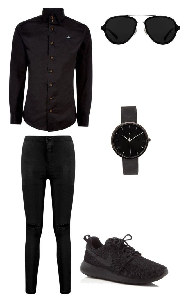 quotall black mens outfitquot by bbb4187 on polyvore featuring