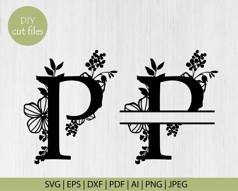 Pin By Janine Reed On Designs Floral Monogram Letter Floral Letters Monogram Svg