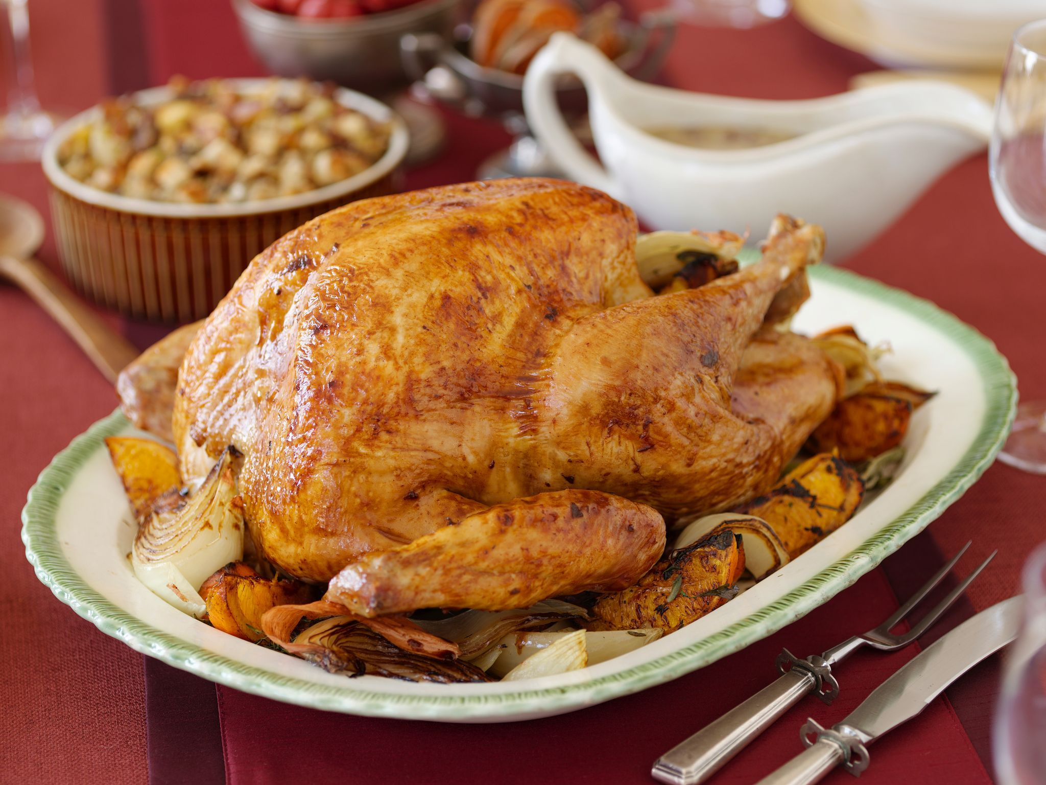Top turkey tips herb roasted turkey turkey recipes and roasted get expert turkey tips including thawing cooking trussing and roasting your bird forumfinder Choice Image
