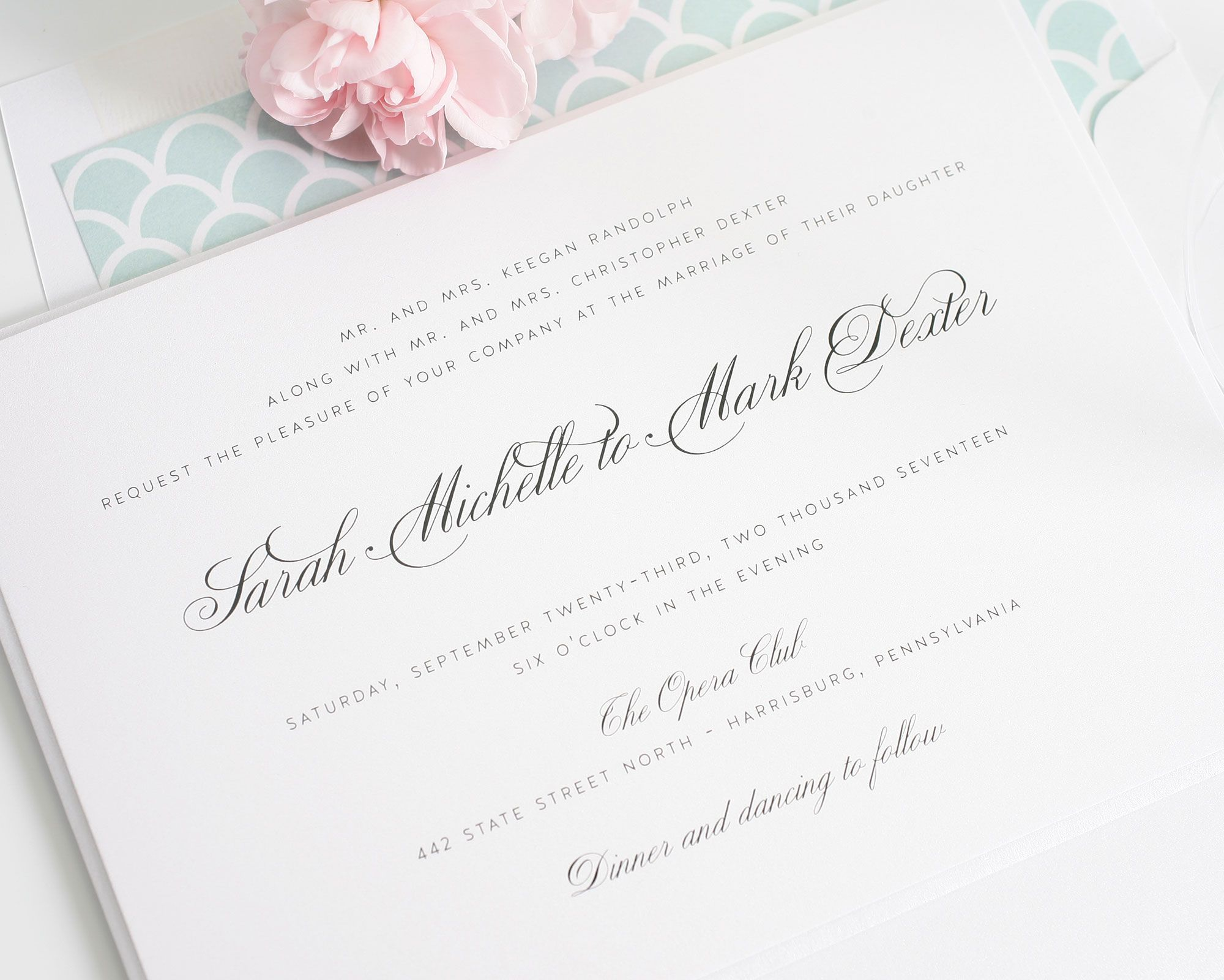 1940s Wedding Invitations   1940s wedding, Return address and Mint ...