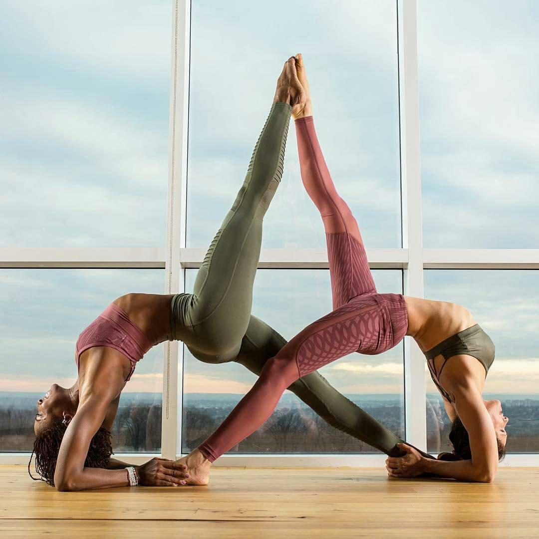 Couples Yoga Pose Strong