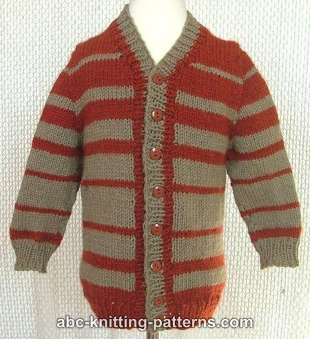 Abc Knitting Patterns Childs Top Down Seamless Cardigan With Set