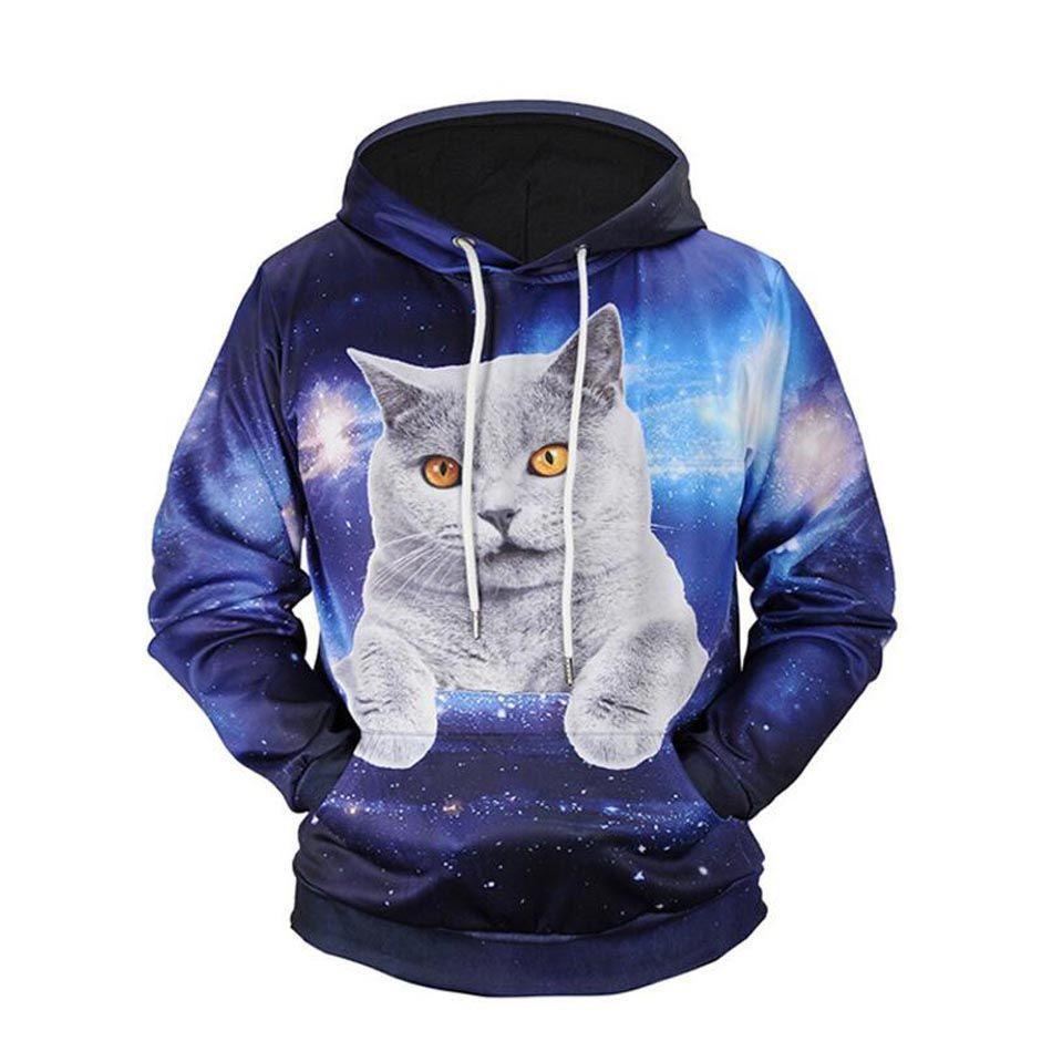 Funny sweatshirt mens pullover hoodie cat man Cat sweatshirt Plus Size cat sweater cats graphic tee Big and Tall mens sweatshirt
