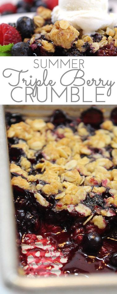 Summer Triple Berry Crumble Recipe