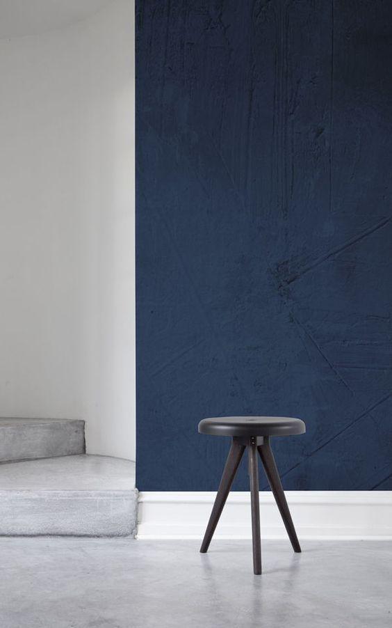 Mural de pared Cemento grunge azul oscuro Aficionados, Pasillos y - paredes de cemento