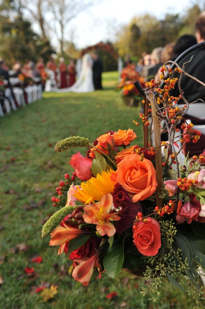 Rich Fall Colors Define A Tennessee October Outdoor Wedding